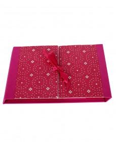 Polka Dot Printed Magenta Pink Cardboard Paper Diary