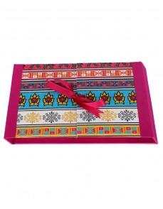 Floral Printed Magenta Pink Cardboard Paper Diary