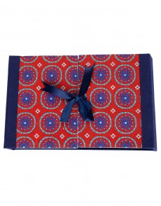 Floral Printed Blue Cardboard Paper Diary