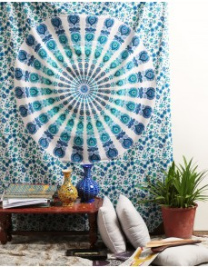 Wall Tapestries, White Indian Peacock Mandala Tapestry ,Indian Wall Hanging ,Hippie Indian Tapestry,bohemian Wall Hanging,queen Bedspread Throw Decor Art
