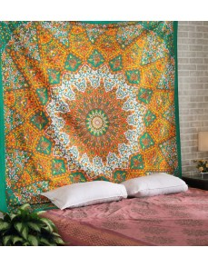 Indian Star Mandala Psychedelic Tapestry, Hippie Bohemian Wall Hanging Tapestries, Bedspread Bedding Bed Cover, Ethnic HomeDecor