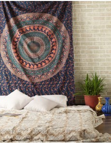Hippie Tapestry, Hippy Mandala Bohemian Tapestries, Indian Dorm Decor, Psychedelic Tapestry Wall Hanging Ethnic Decorative Tapestry