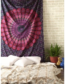 Mandala Bohemian Tapestry Wall Hanging, Psychedelic Wall Art, Dorm Decor Beach Throw, Indian Wall Tapestries