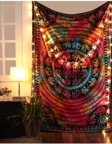 Tie Dye Elephant Mandala Hippie Tapestry, Hippy Mandala Bohemian Tapestries, Indian Dorm Decor, Psychedelic Tapestry Wall Hanging Ethnic Decorative