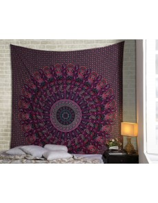 Elephant Mandala Tapestries Paisley Hippie Tapestry Indian Traditional Throw Bohemian Wall Hanging Boho Psychedelic  Bedspread Beach Throw Wall Art