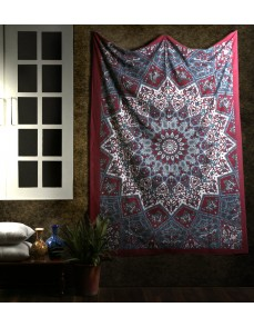 Large Hippie Tapestry, Hippy Mandala Bohemian Tapestries, Indian Dorm Decor, Psychedelic Tapestry Wall Hanging Ethnic Decorative Tapestry