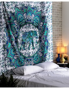 Bohemian Elephant Mandala Tapestry Indian Bedspread Tapestry