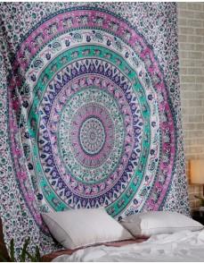 Elephant mandala tapestry , pink elephant mandala tapestry,wall hanging tapestry