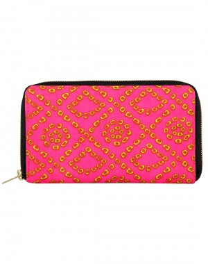 Antique Cotton Purple Clutch Bag Geometric Printed For Women's By Rajrang