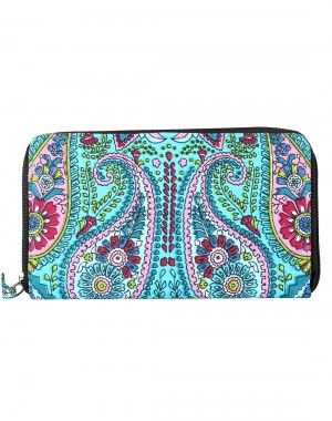 Dazzling Cotton Blue Clutch Bag Floral Printed For Women By Rajrang