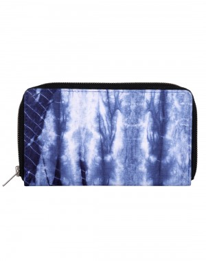 Beautiful Cotton Blue Clutch Bag Abstract Tie Dye For Women By Rajrang