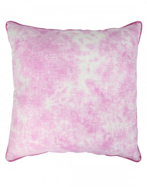 Luxurious Cotton Slub Tie Dye Abstract Fuchsia Cushion Cover (Single pcs )