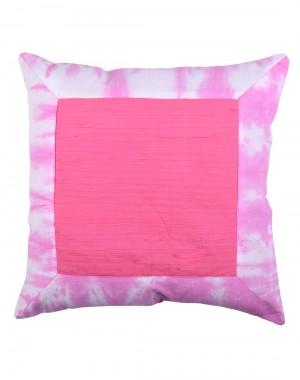 Tie Dye Elite Fuchsia Cotton Slub Cushion Cover (Single pcs )