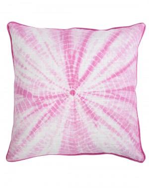 Fuchsia Trendy Tie Dye Cotton Slub Cushion Cover (Single pcs )