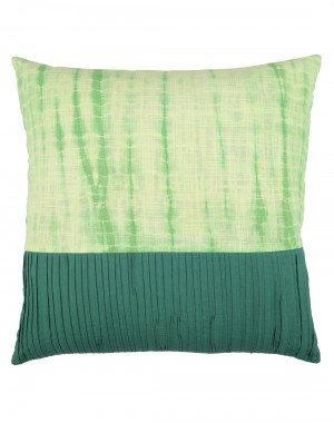 Cotton Slub Tie Dye Emerald Green Cushion Cover (Single pcs )