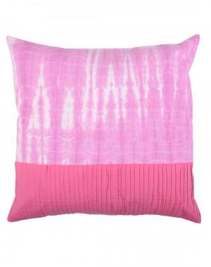Fuchsia Traditional Tie Dye Cotton Cushion Cover (Single pcs )
