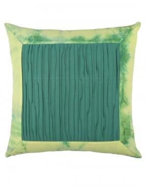 Tie Dye Emerald Green Cotton Slub Cushion Cover (Single pcs )