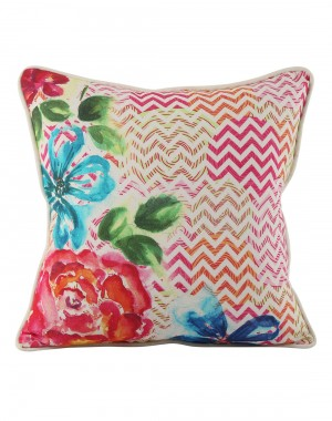 Ethnic  cushion covers Cotton Casement Living Room Decor throw pillows Pink pillow covers Floral Digital Printed