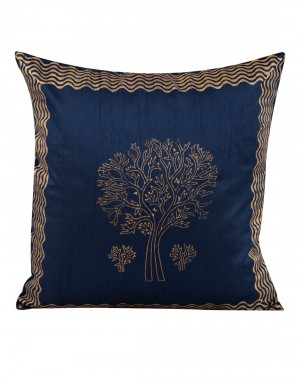 Indian Ethnic Pillowcases Polyester For Gifts Blue Pillow Covers For Sofa Single Pillow Shams Tree Hand Block Printed