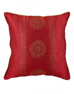 Standard Size Single Cushion Covers Polyester Home Decor Accessories Red Pillowcases Home Furnishing  Pillow Covers Hand Block Printed Floral