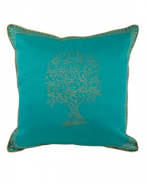 Bed Pillows Green Throw Pillows  Jaipuri Designs Polyester Cushion Covers Living Room Single Pillowcases Hand Block Printed Tree