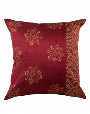 Home Decor Accessories Polyester Cushion Cover Red Attractive Single Pillow Shams Bed Pillows  Throw Pillows Hand Block Printed Floral