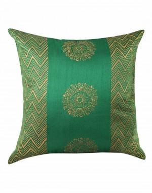 Traditional Designs Green Pillow Covers Polyester For Sofa  Pillow Cases Handmade Designs Single Cushion Cover Hand Block Printed Floral