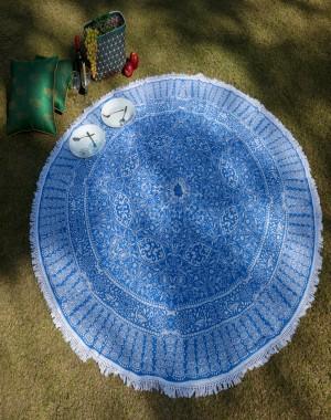 Blue Round Mandala Tapestry ,beach Tapestry, boho Tapestry