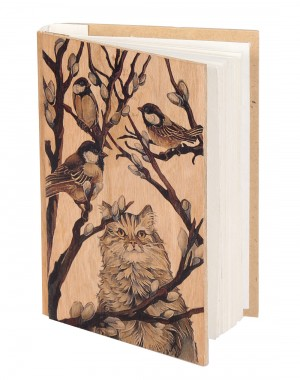Beige Hand Made Paper Bird Digital Printed Diary