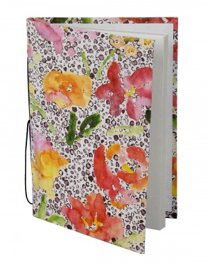 Attractive Diary Floral White Printed Card Board Paper Diary