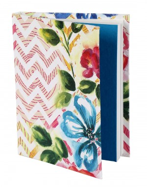 Trendy Diary Chevron White Printed Card Board Paper Diary