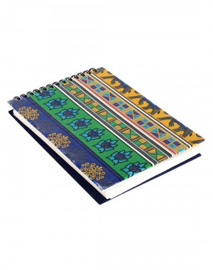 Elephant Printed Blue Cardboard Paper Diary