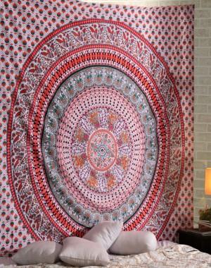 Wall Hanging, Indian Mandala Tapestry Throw Bedspread, Dorm Tapestry , Decorative Wall Hanging, Picnic Beach Sheet