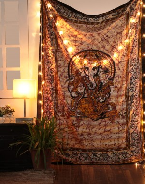 Indian Lord Ganesha Hippie bohomian Tapestry Wall Hanging Tapestry