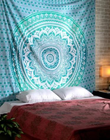 Mandala Tapestry,  Multi Color Handmade Indian Designer Ethnic Style