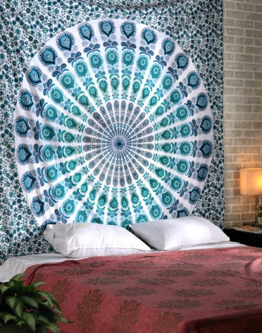 indian Peacock Mandala Tapestry ,Indian Wall Hanging ,Hippie Indian Tapestry,bohemian Wall Hanging,Bedspread Throw Decor Art