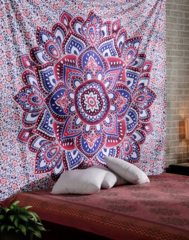 Ombre Mandala Tapestries Hippy Hippie Wall Hanging Wall Tapestries Indian Mandala Tapestries Bohemian Tapestry Sofa Cover Beach Blanket Dorm Decor Wall Art